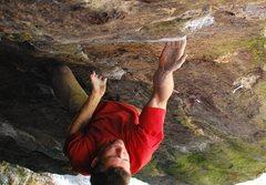 Rock Climbing Photo: Matt Giossi - getting into the good undercling bef...