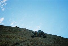 Rock Climbing Photo: Carson sending on Comic Relief
