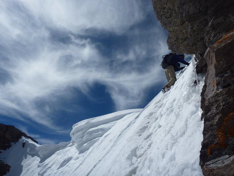 Scotty climbing Gilpen Peak