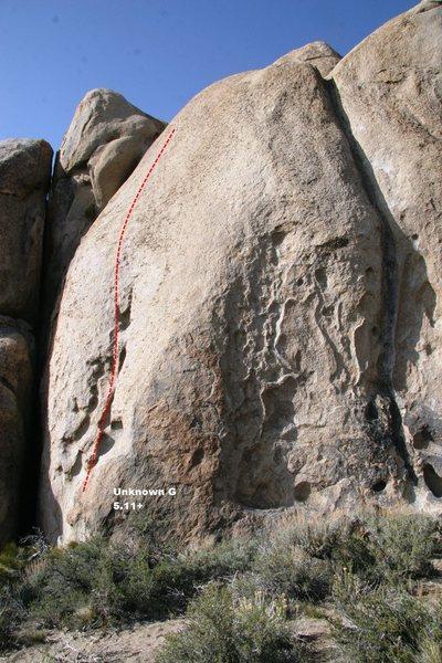 Rock Climbing Photo: Unknown G Topo