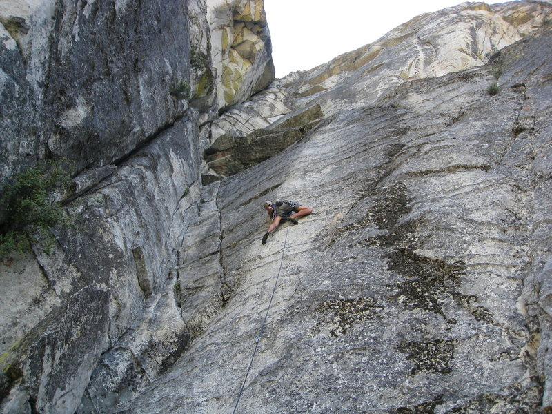 Rock Climbing Photo: gettin warmed up in line for corrugation