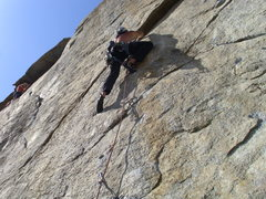 "Rock Climbing Photo: Aaron on ""industrial bliss"""