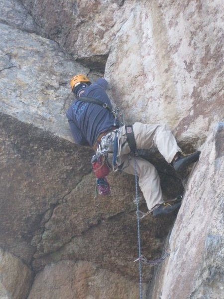 moving into the crux