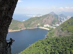 Rock Climbing Photo: Climbing on the Totem, on Pao de Acucar (Sugarloaf...