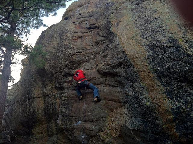 Rock Climbing Photo: Collin Beecher running laps