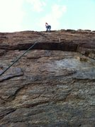"Rock Climbing Photo: Kristina at the anchors of ""Raphael"" wit..."