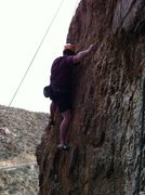 "Rock Climbing Photo: Mike working out the delicate sequence for ""K..."