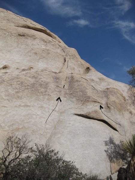 Rock Climbing Photo: Ricochete - take either start left is more runnout...