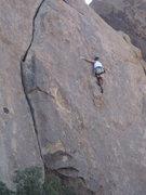 Rock Climbing Photo: Tricky footwork - heel Jack, heel!