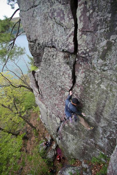 "Rock Climbing Photo: Josh on ""The Green Slime"""