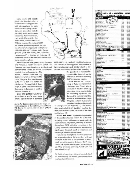 Rock Climbing Photo: Page 101. Rock and Ice article issue #99 April 200...