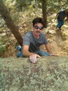 Rock Climbing Photo: Me on my FA.