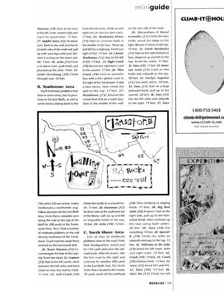 Rock Climbing Photo: Page 103.