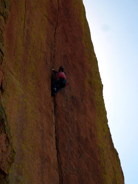 Rock Climbing Photo: About halfway up the route
