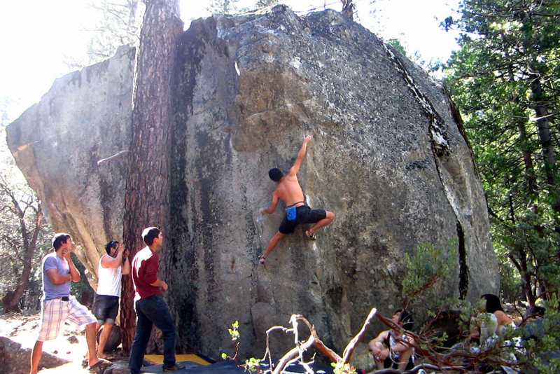 Rock Climbing Photo: Wood Yard Arete