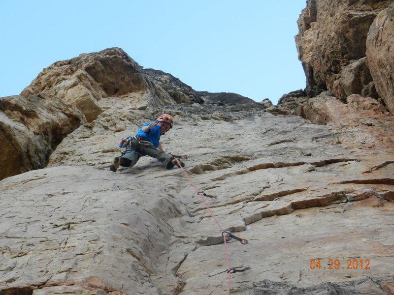 Rock Climbing Photo: Tristin Crane, 12 yrs.