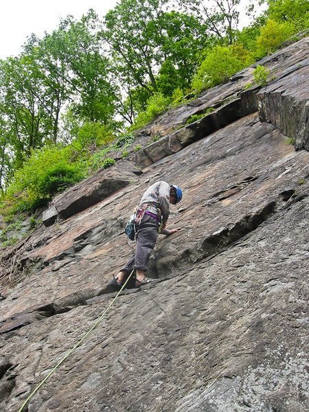 Rock Climbing Photo: At the high first clip of Who Shot Bambi?
