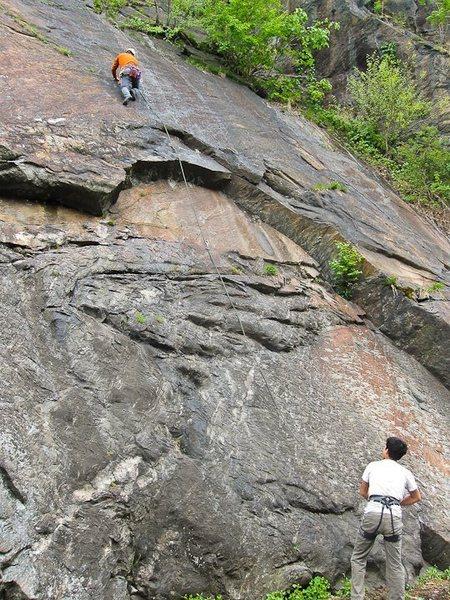 Rock Climbing Photo: Zach leading Slab Master