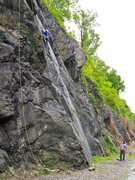 Rock Climbing Photo: Zach gunning for Chillin' and Maxin' on TR, very d...