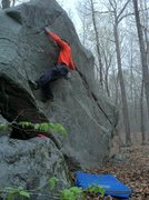 Rock Climbing Photo: working towards the crux.