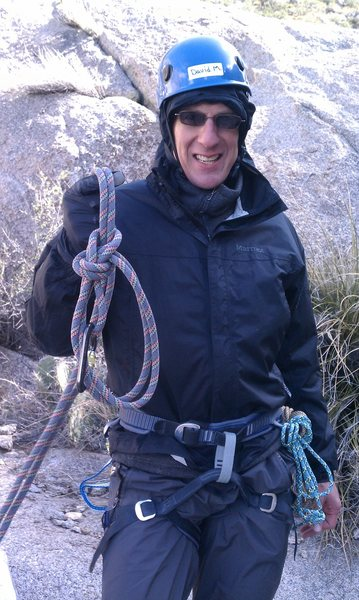 Me, with a bowline-on-a-bight