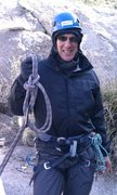 Rock Climbing Photo: Me, with a bowline-on-a-bight