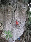 Rock Climbing Photo: The first ascent of Welcome to Mike's Place, a thr...