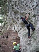 Rock Climbing Photo: Belizean adventure guides Dennis Martinez & Justo ...