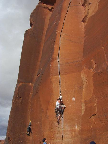 Rock Climbing Photo: Nicole sending hard