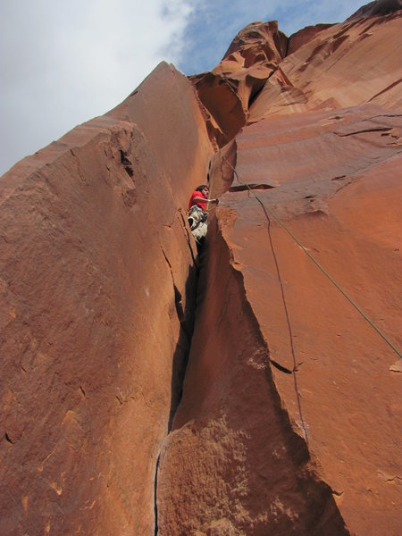 Rock Climbing Photo: first route (TR) in the creek!