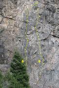 Rock Climbing Photo: 8 Sundance 5.10c 9 Afterglow 5.10d