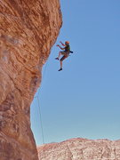 Rock Climbing Photo: Fall from the fourth bolt.