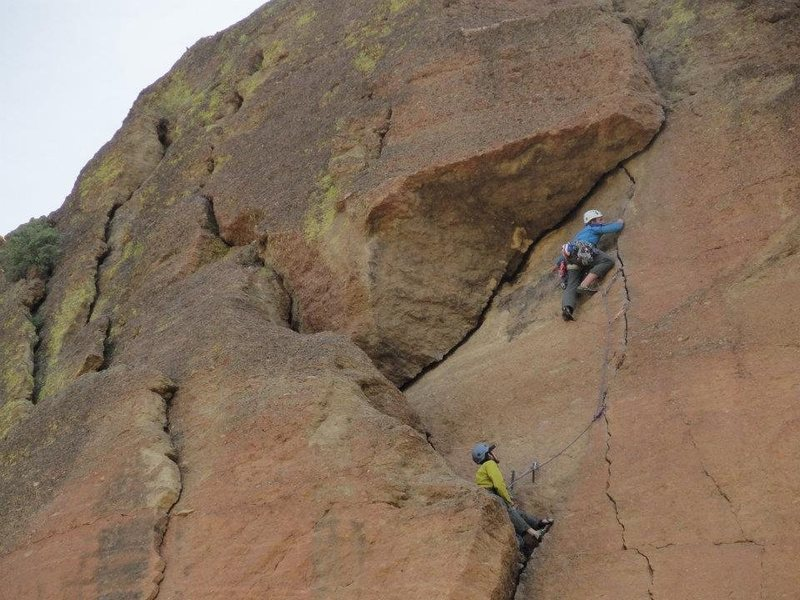 Rock Climbing Photo: Heading into the improbable roof.  photo by Andy P...