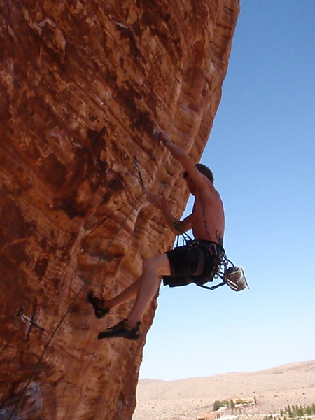 Rock Climbing Photo: Mid route