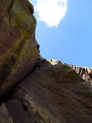 Rock Climbing Photo: Wade leading the P3 grovelfest.