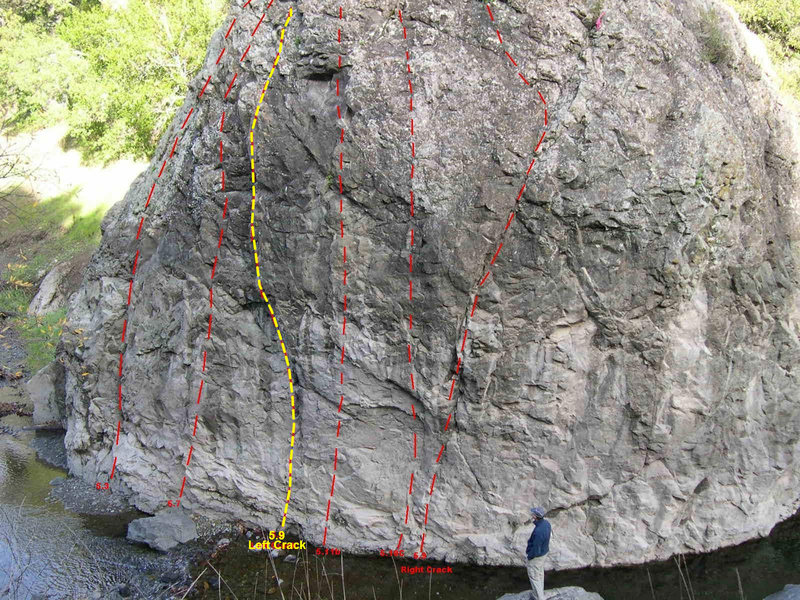 Rock Climbing Photo: Simply the overall beta photo with Left Crack high...