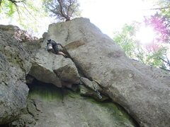 Rock Climbing Photo: View of the route from the ground