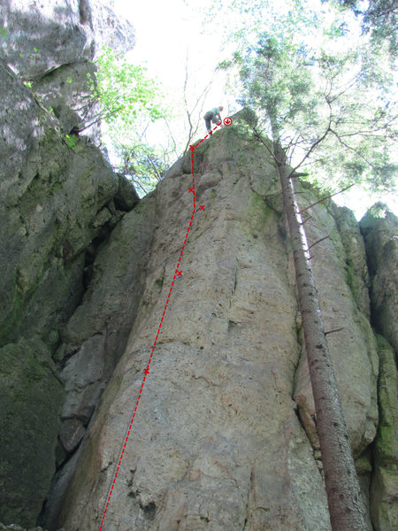 Rock Climbing Photo: The crux is up to the first bolt shown here, but t...