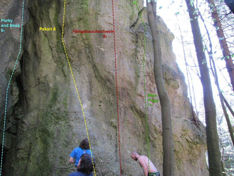 Rock Climbing Photo: The right side of Saufels (except Porky and Bess)