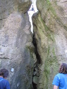 Rock Climbing Photo: There's a fun chimney right in the middle of this ...
