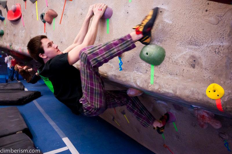 Gym climbing