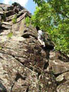 Rock Climbing Photo: I believe this is Dogleg Crack (5.4) but feel free...