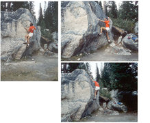 Rock Climbing Photo: An old school photo I found of CutFinger Boulder