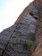 Rock Climbing Photo: Pitch 1.
