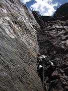 Rock Climbing Photo: Pitch 4 crux, 5.11+.