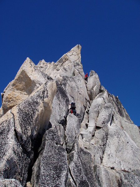 Crux pitch on the Kain route,