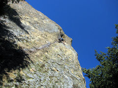 Rock Climbing Photo: View up the 1st pitch of the pillar... straight up...