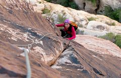 Rock Climbing Photo: On Crabby Appleton-Pine Creek Canyon, RR. We did t...