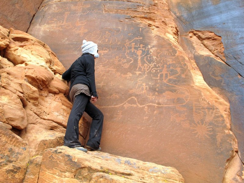 Intrigued by the interesting petroglyph panels at the Vermillion Cliffs.<br> <br> 2012