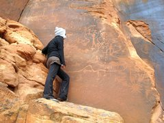 Rock Climbing Photo: Intrigued by the interesting petroglyph panels at ...